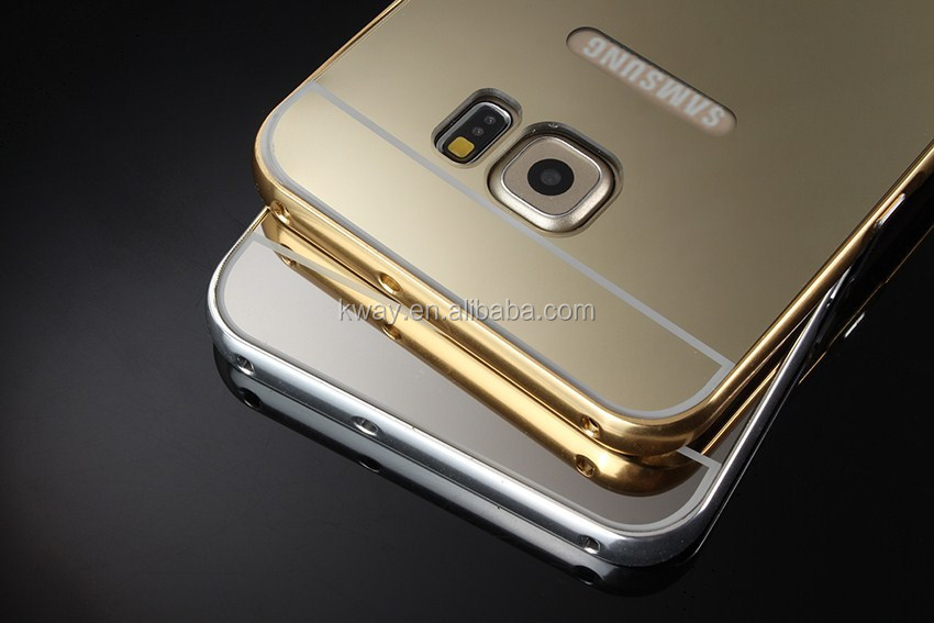 Aluminum Metal Frame Acrylic Mirror Back Cover Case For samsung Galaxy S3 S4 S5 S6 S7 Edge j1 j3 j5 j7 2016 A3 A5 A7 Grand Prime