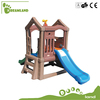 Kindergarten plastic play house with slide