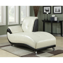 Antique style black and white chaise lounge