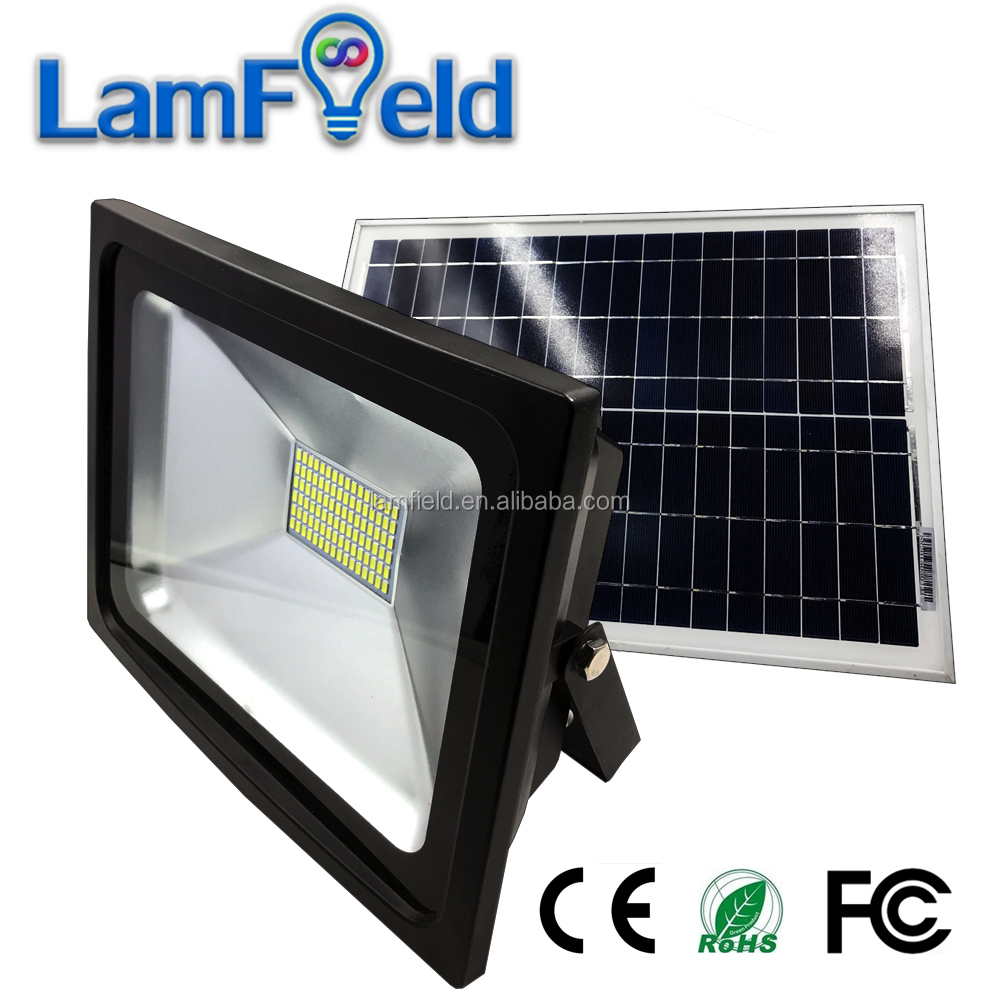 Shock Crack Resistance Solar Light 50W Solar LED Flood Light For Outdoor Lighting