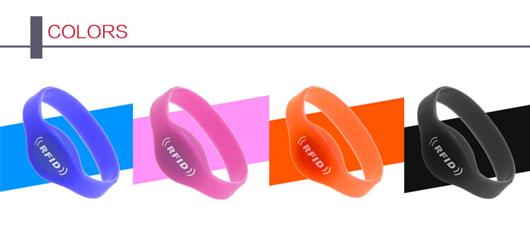 Water Part Waterproof Bracelet 13.56MHz 213/215/216 Chip  RFID NFC TAG Silicone Wristband
