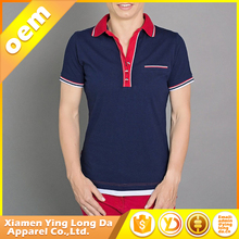 High quality hot-sale xiamen women's t-shirt outside polyester inside cotton polo shirt
