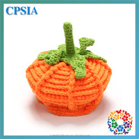 Cute Halloween Pumpkin Design photo prop Handmade Knitted Baby Crochet Hats