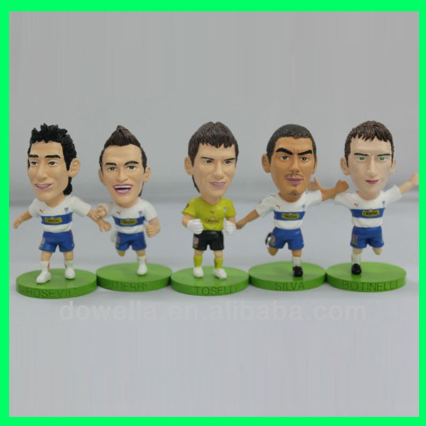 Custom personalized soccer toys figures / football figure/OEM plastic toy