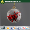 Clear 80mm Christmas Glass Ball For