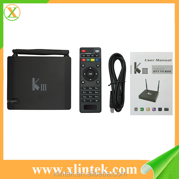 New Design Android 5.1 TV BOX KIII Amlogic S905 black wireless android desi tv box KII KIII pro s2 t2