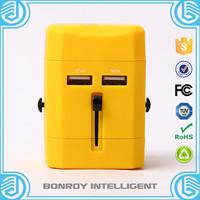 multipurpose best selling eu as us uk plug pin usb socket travel adapter