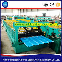 High Eficiency Used metal Galvanized Iron Sheet Roll Forming Machine Production Line Trapezoidal Panel Roofing Machine