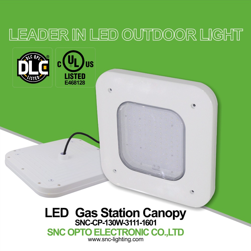 DLC UL gas station led canopy lights,130w led canopy light outdoor lighting with best quality