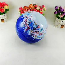 Round metal ball Christmas hot sale popular tin can gift box