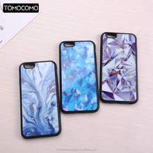 TOMOCOMO Fashion Marble Crystal Diamond Agate Pattern Mirror Soft Phone Case Coque Fundas Cover For iPhone 6 6S 6Plus 7 7Plus