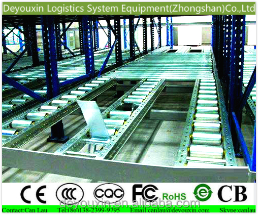 Retailer general merchandise carton flow <strong>rack</strong> with steel beam size for warehouse racking system
