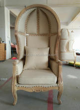 antique french canopy chair , wedding throne chair, queen chair