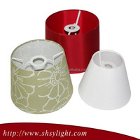 Half round colorful hanging fabric lamp shades, wholesale cheap lamp shade