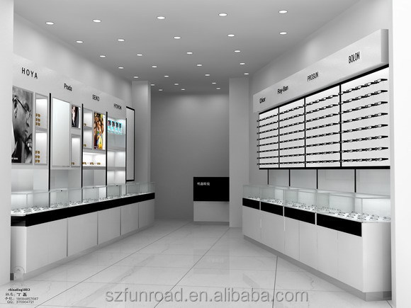 Display Stand Designs : Latest illuminated optical shop commercial furnitures