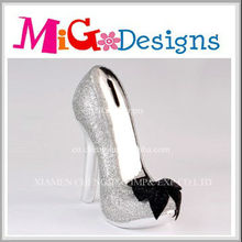 OEM art decor ceramic Lovely High Heel Shoes New Design Piggy Bank