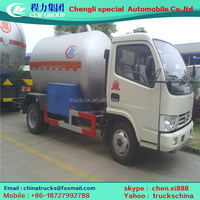 DFA 5500l lpg tanker truck petrol gas load-carrying truck with filling dispenser vehicle