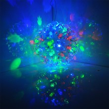 110-240V EU Plug 50 LED Ball Flower Fairy Lights For Christmas Party Wedding TK1355