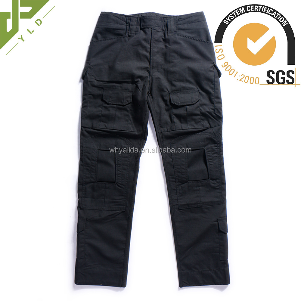 military camouflage breathable men black cargo pants
