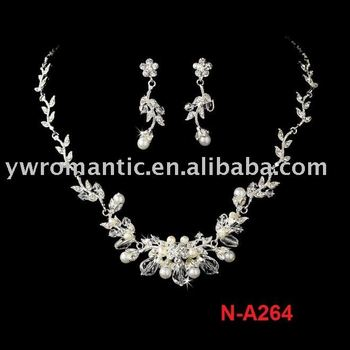 2011 fashion bridal pearl necklace set