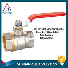 brass faucet and ball valve 1/2 inch brass iron handle iron ball with polishing and ppr nicekl-plated