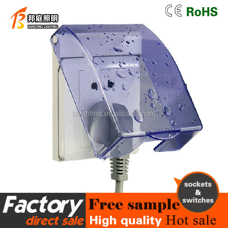 switch electrical 1 gang five hole 2 way socket waterproof box