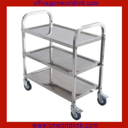 Good Helper! Hotel 3 layers stainless steel housekeeping cart, service cart, food service trolley for restaurant equipment