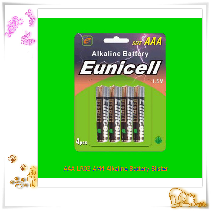 1.5v AAA Size and Zn/MnO2 alkaline battery
