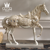 Resin Handicraft Horse Statue for Home Decoration