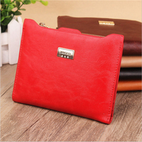 New Top Brand Fashion Zipper Women Wallets Genuine Leather Female Wallet Purse