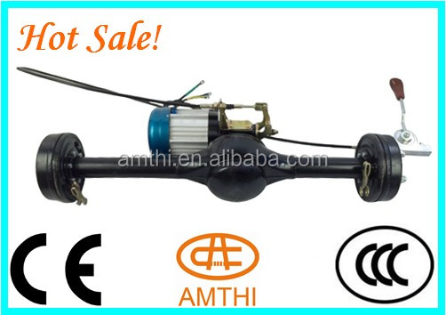 three wheels trike rear axle with disc brake, 2 speed Electric tricycle rear axle with 2000w Motor, electric car rear axle