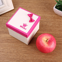 Christmas box custom printing recycled round cardboard carton packaging paper gift box wholesale