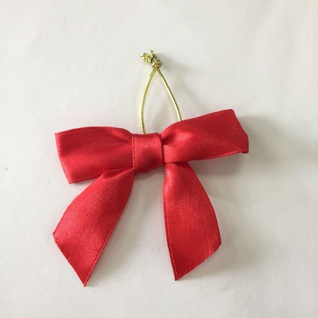 Christmas perfume bottle pre-tied satin ribbon bow tie