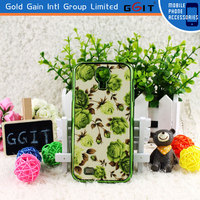 Green Flower Water Transfer Printing Flip Cover Case For Samsung For Galaxy S4 i9500, High Quality For Galaxy S4 Protector
