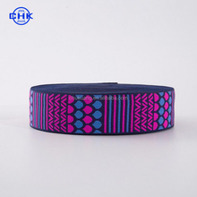 wholesale colorful costomized knitted jacquard elastic webbing band