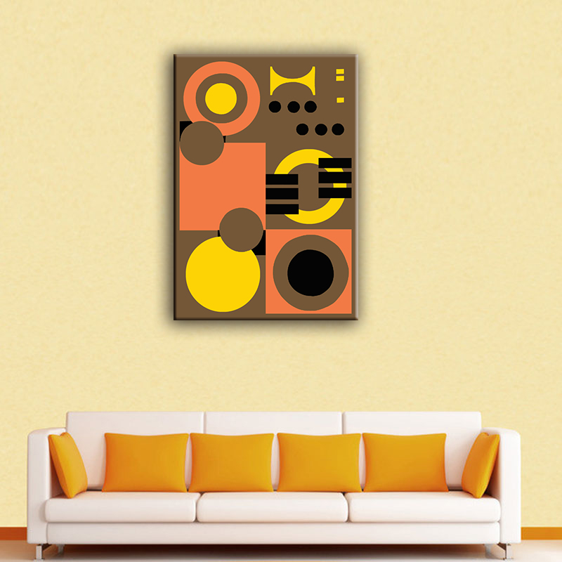 Wholesale modern geometric abstract painting canvas art