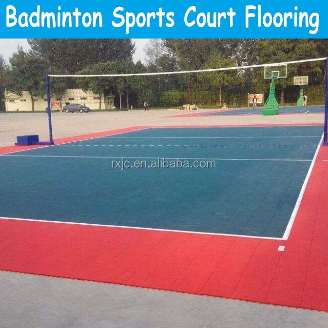 Indoor polyurethane Badminton sports court flooring