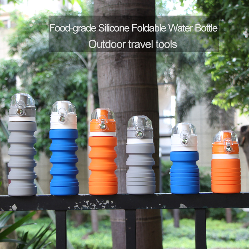 Outdoor Foldable Water Bottle / Silicone Drinking Bottle / Collapsible Travel Bottles