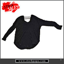 stock latest black comfortable fashion back neck design of blouse for women