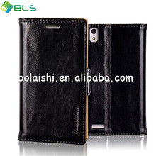 Thin Slim PU Leather Side Flip Style Pouch Stand Case Cover For HUAWEI Ascend P6