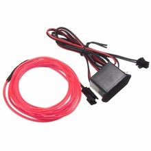 2M Flexible Car 12V EL Wire Rope Neon Light Light Glow Decor Party Dance Car Styling For Toyota/Honda/BMW/Mini/Audi