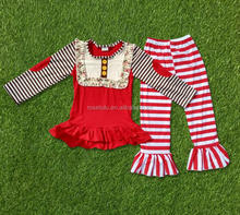 Children clothing winter 2016 bib baby dress pictures stripe cotton frock suit design casual frock designs suit