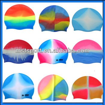 Custom Multi-Color Silicone Swim Caps