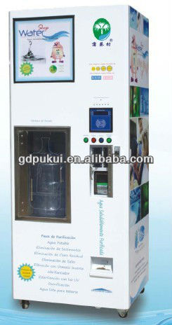 Automatic Reverse Osmosis purify water vending machine with give change function
