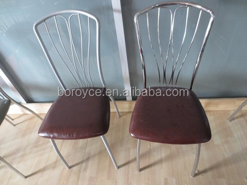 Modern metal leg /PU/PVC dining chair BR-2#/electroplating/spraying
