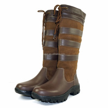 Top Quality Women Waterproof Genuine Leather Country Boots Horse Riding Boots