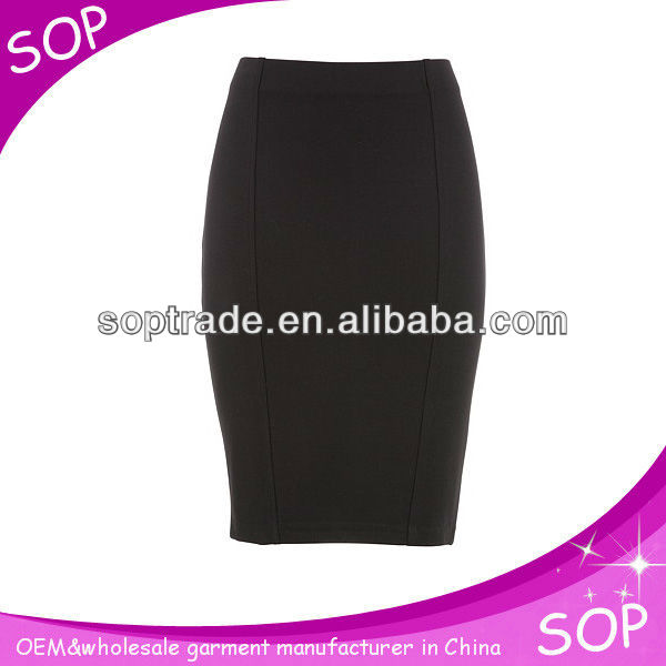 Fashion mature women office clothing bodycon skirts mini pencial skirt for ladies