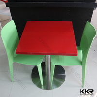 Best selling product acrylic stone cube table set