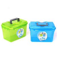 clear 5 kg plastic container for washing powder with handle