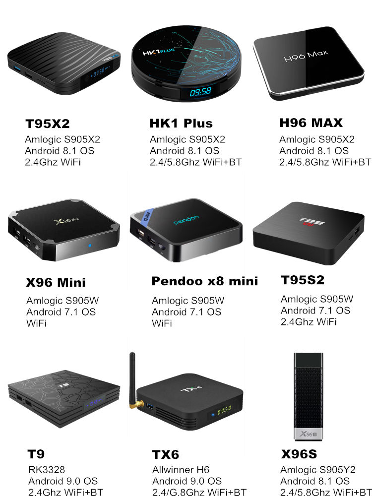 Stock Ready 2019 New Arrival Pendoo A95X TV Box 2GB 16GB S905W With BT Quad Android Smart Tv Box A95X 4K